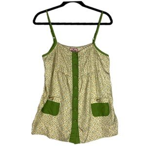 Juicy Couture Size 6 Olive Yellow Gold Silk Cami